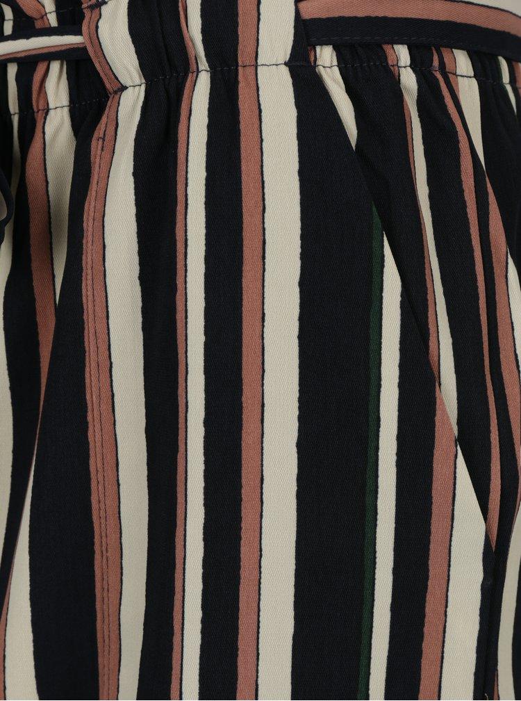 Krémovo-modrá pruhovaná sukně Jacqueline de Yong Anneline