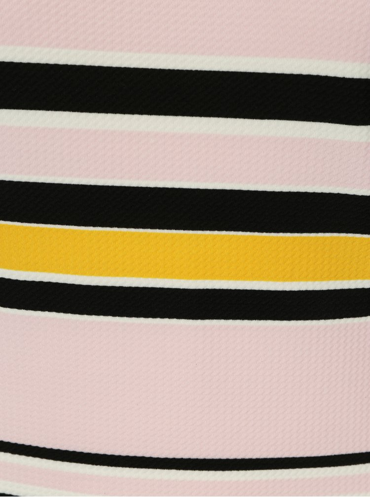 Černo-růžové pruhované šaty Noisy May Lina