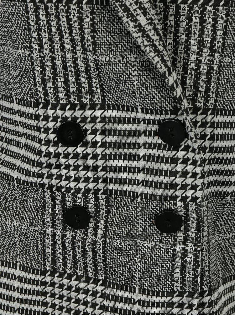Krémovo- černé lehké kostkované sako Dorothy Perkins