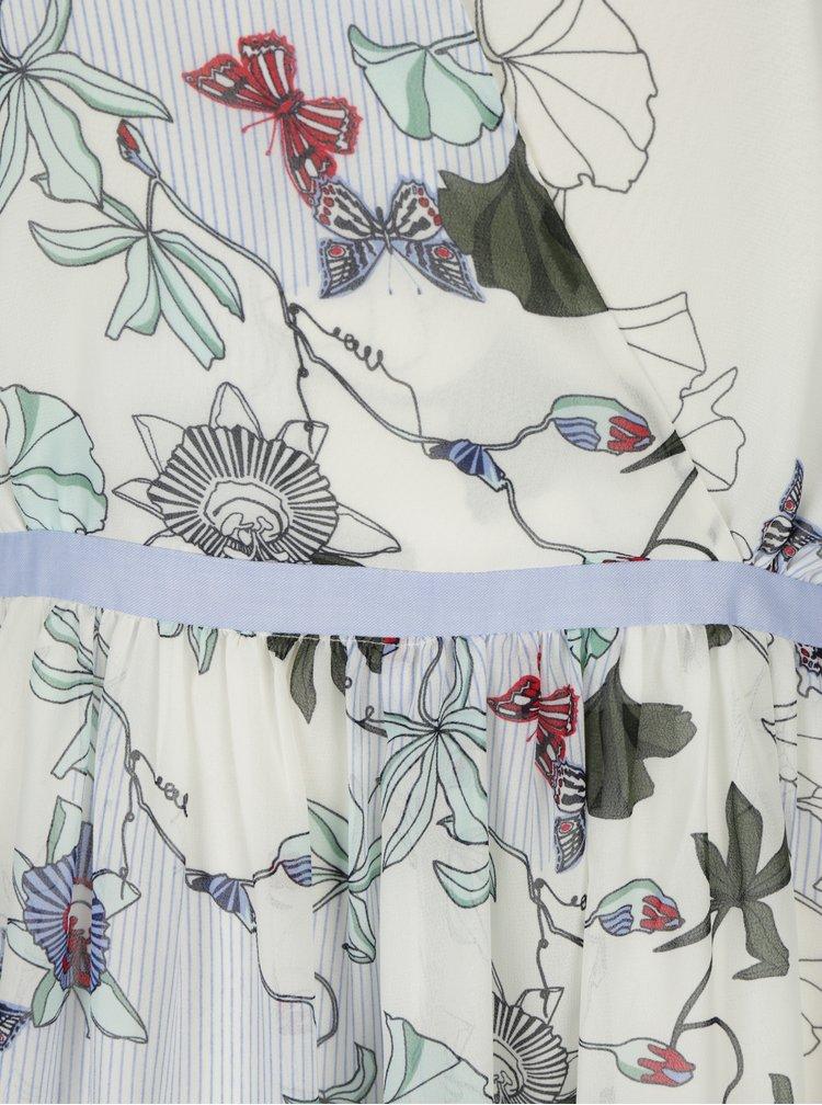 Krémové květované šaty Tommy Hilfiger
