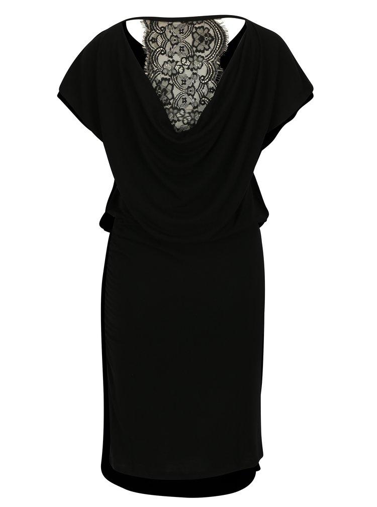 Černé šaty s krajkovými zády ONLY Lilo