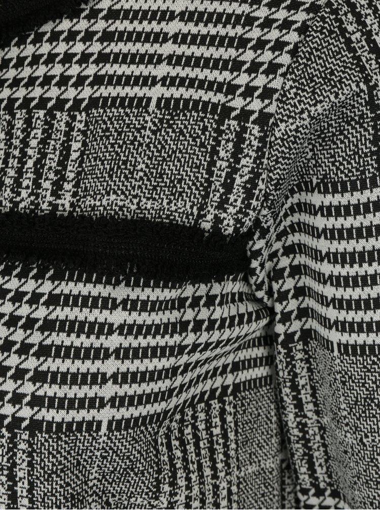 Černé kostkované sako Dorothy Perkins