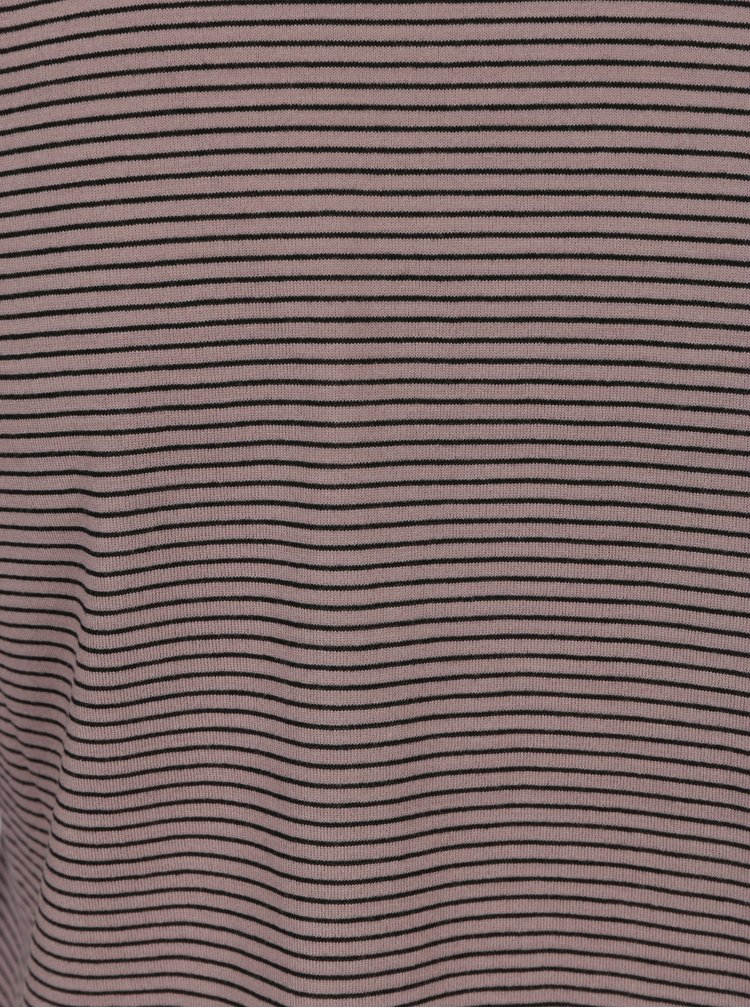 Fialové pruhované tričko s volány Jacqueline de Yong Cloud