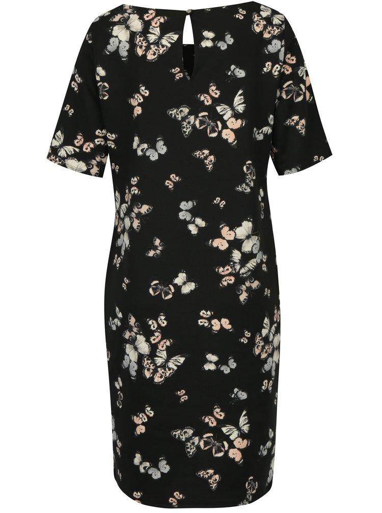Černé šaty s motivem motýlů Billie & Blossom Tall