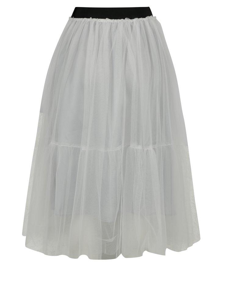 Krémová tylová midi sukně French Connection Luna