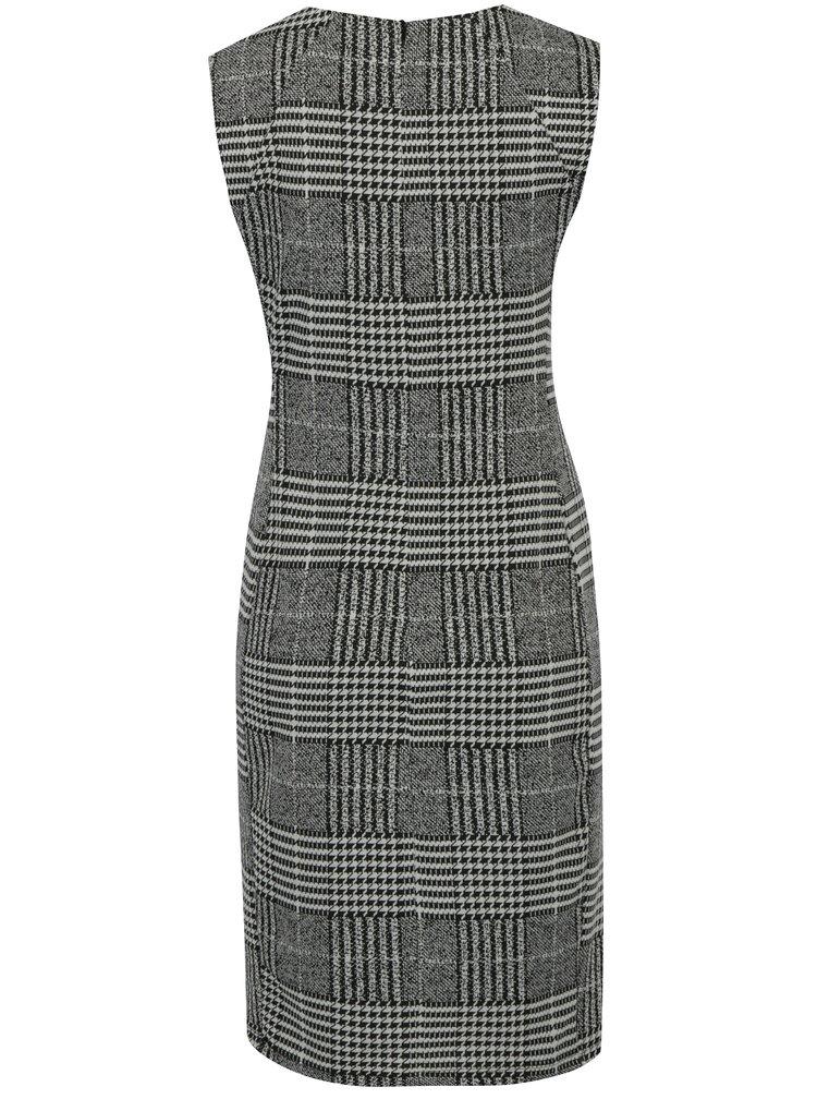 Šedé pouzdrové kostkované šaty Dorothy Perkins