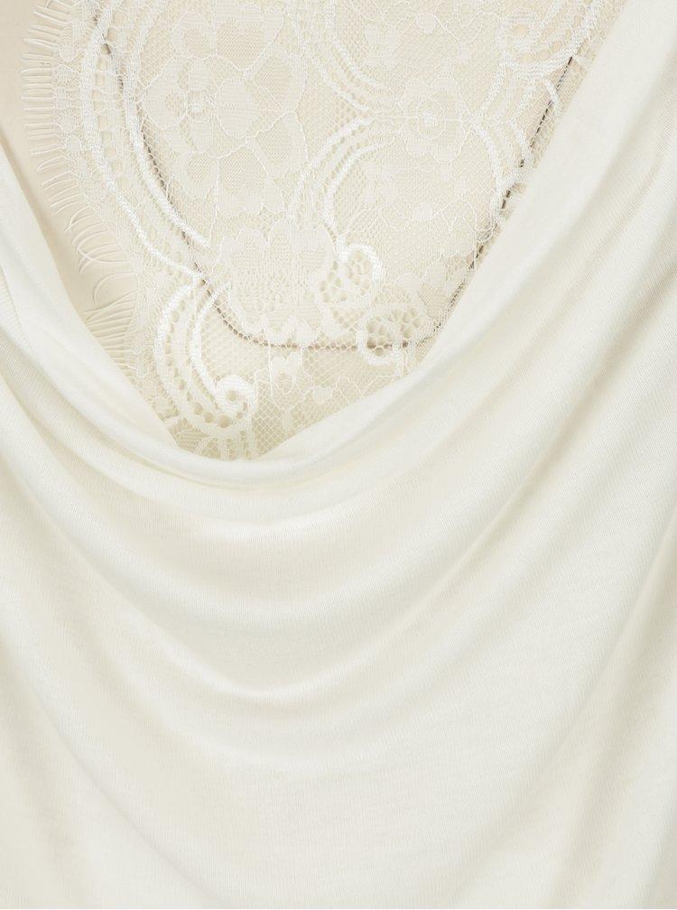 Krémový top s krajkovými zády ONLY Lilo