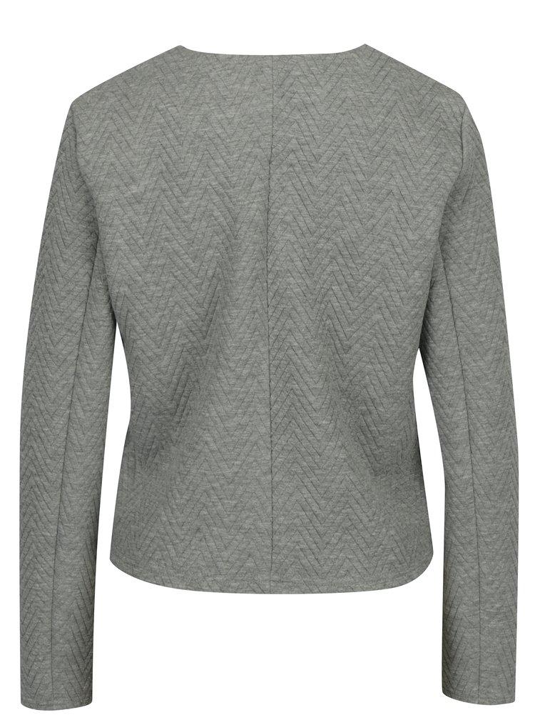 Světle šedé sako s jemným vzorem VERO MODA Mia