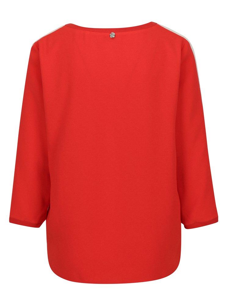 Červená halenka s véčkovým výstřihem Rich & Royal