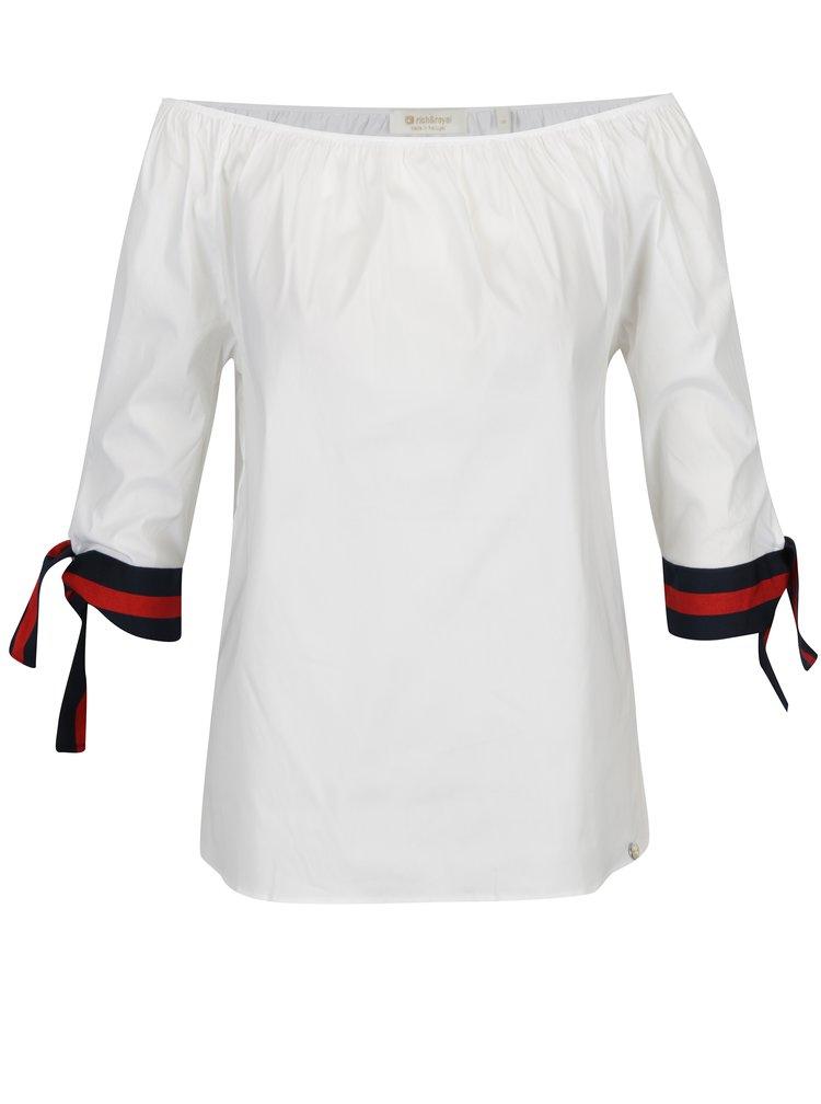 Bílá halenka s odhalenými rameny Rich & Royal