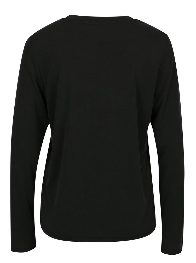 Černé volné tričko ONLY Venus