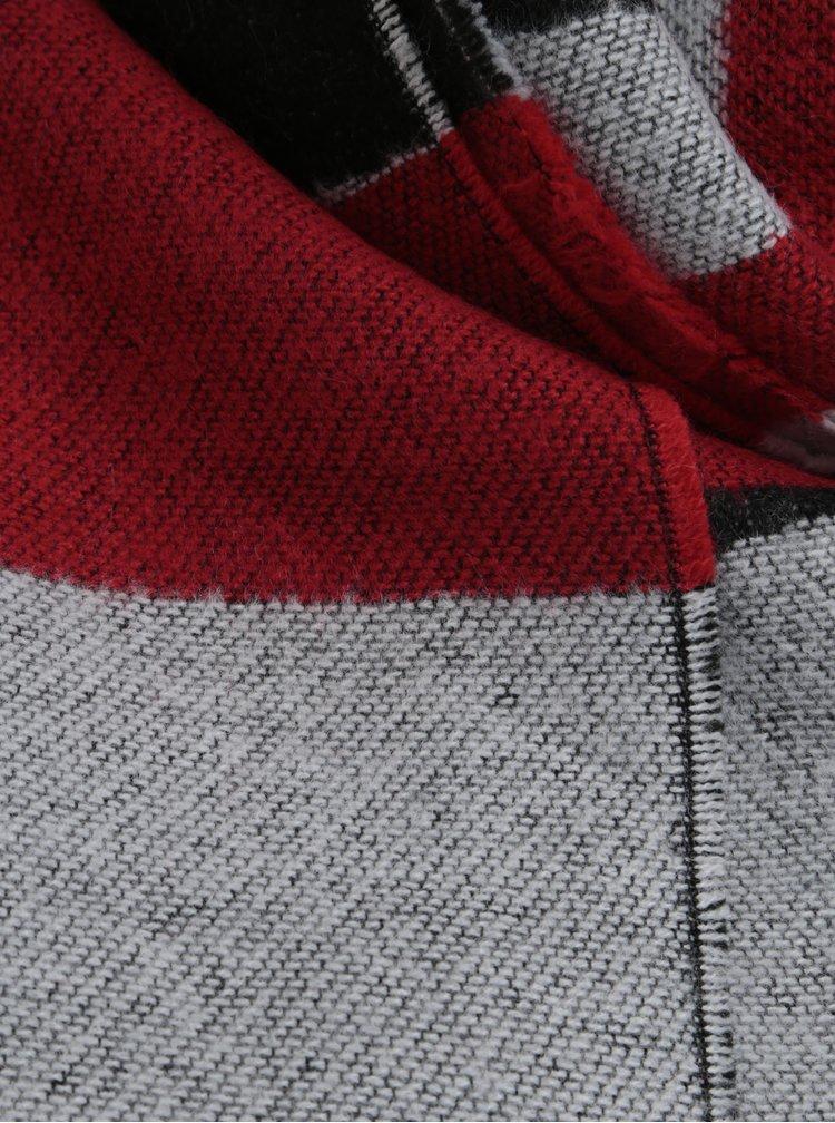 Červeno-černá pruhovaná šála Pieces Muse