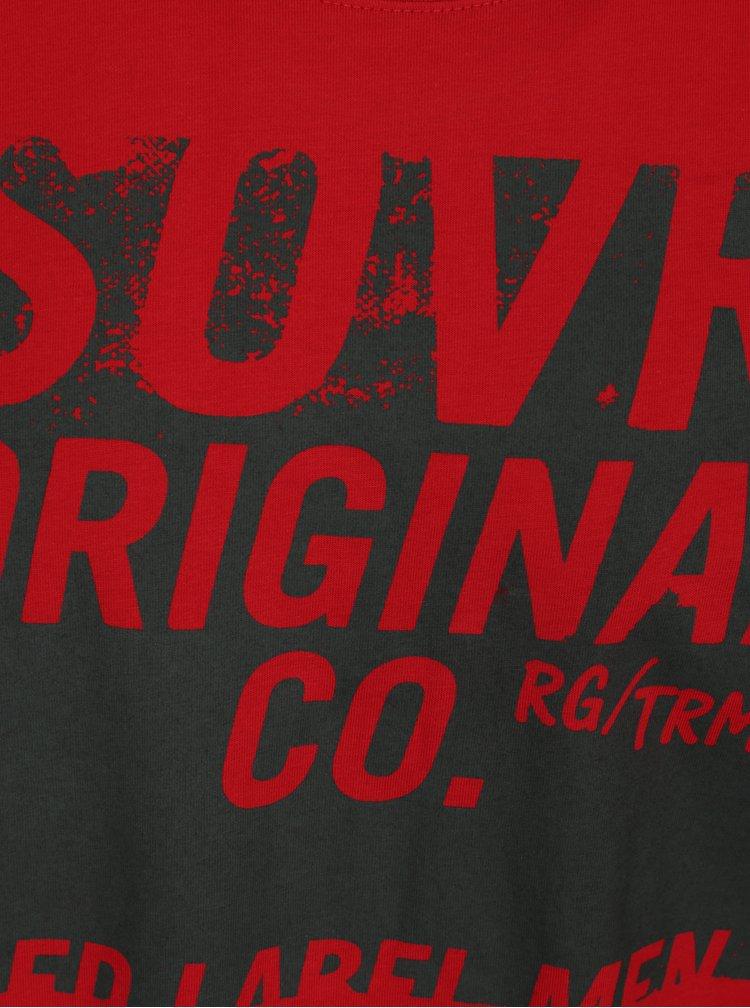 Červené pánské tričko s potiskem s.Oliver