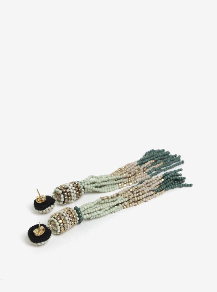 Zelené korálkové náušnice Pieces Venice