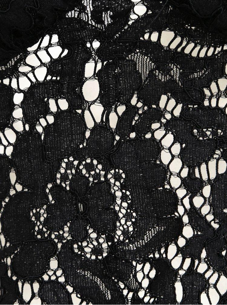 Černá krajková podprsenka s širokým lemem Pieces Aura