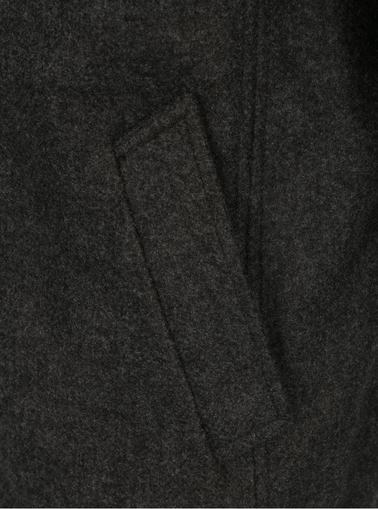 Šedý pánský zimní kabát s.Oliver