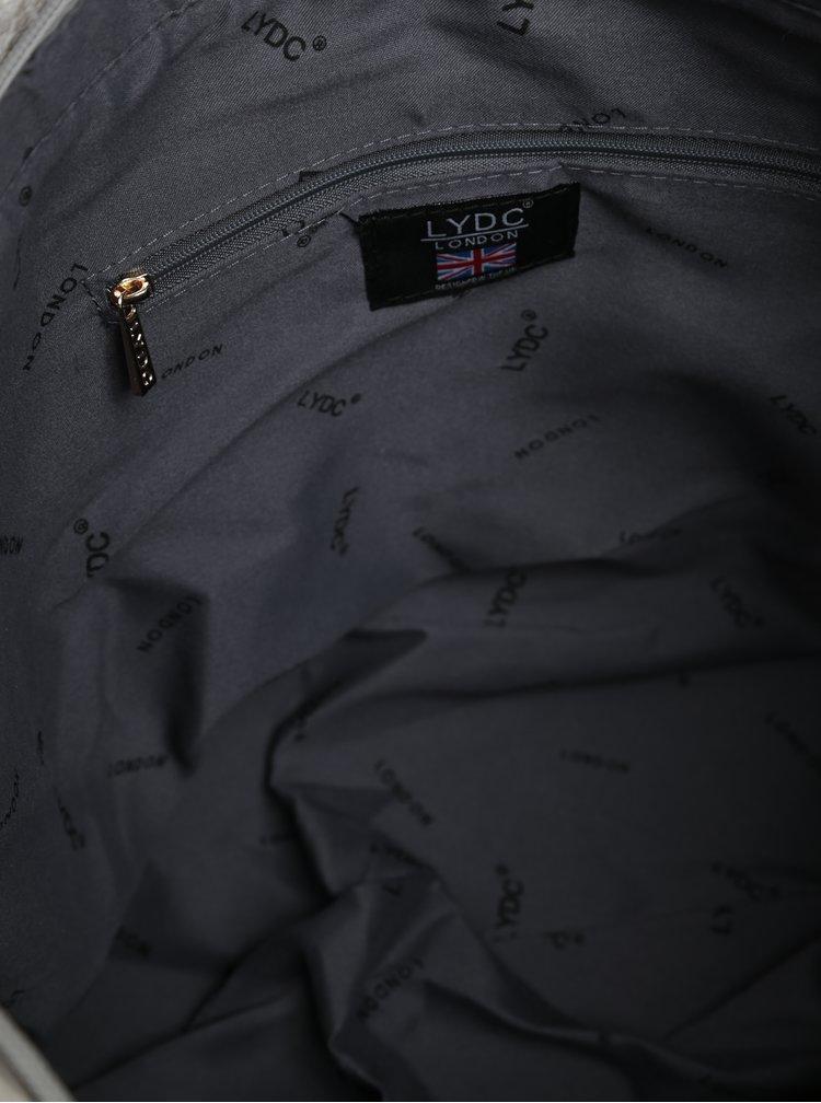 Světle šedá kabelka se střapci LYDC