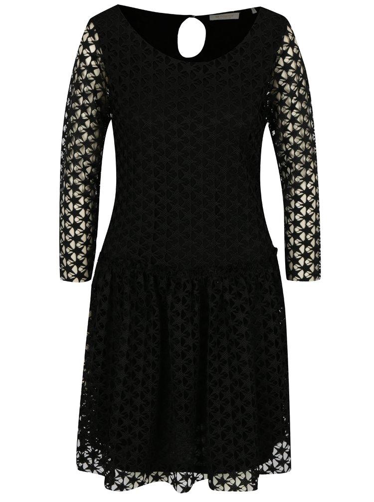 Černé krajkové šaty Rich & Royal