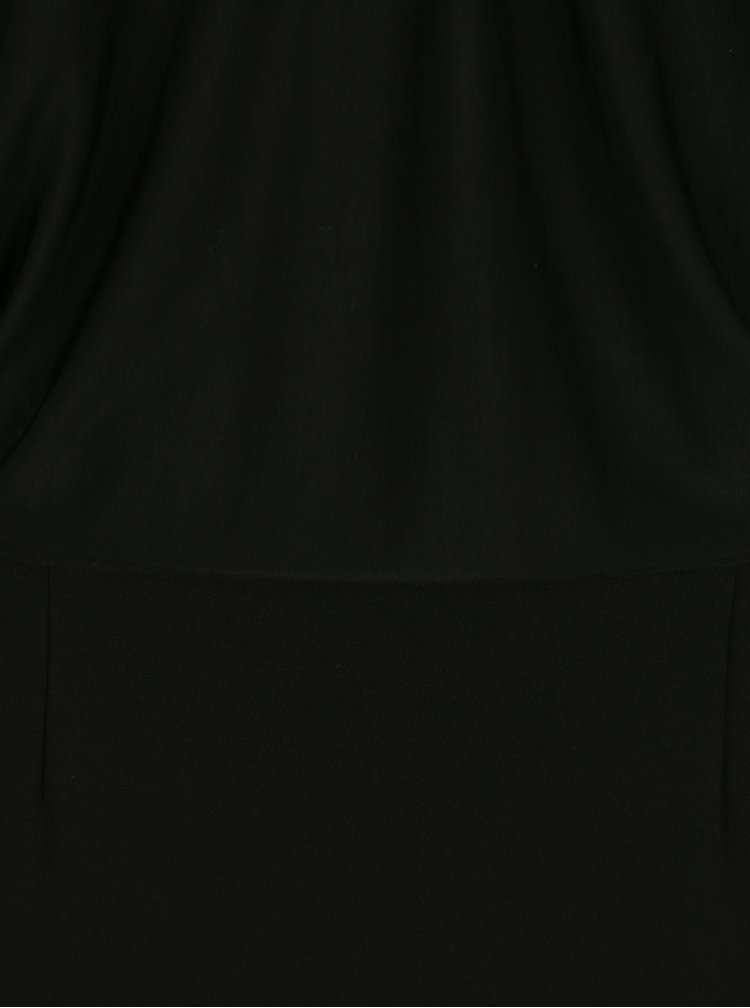 Černé šaty s volným topem s netopýřími rukávy La femme MiMi