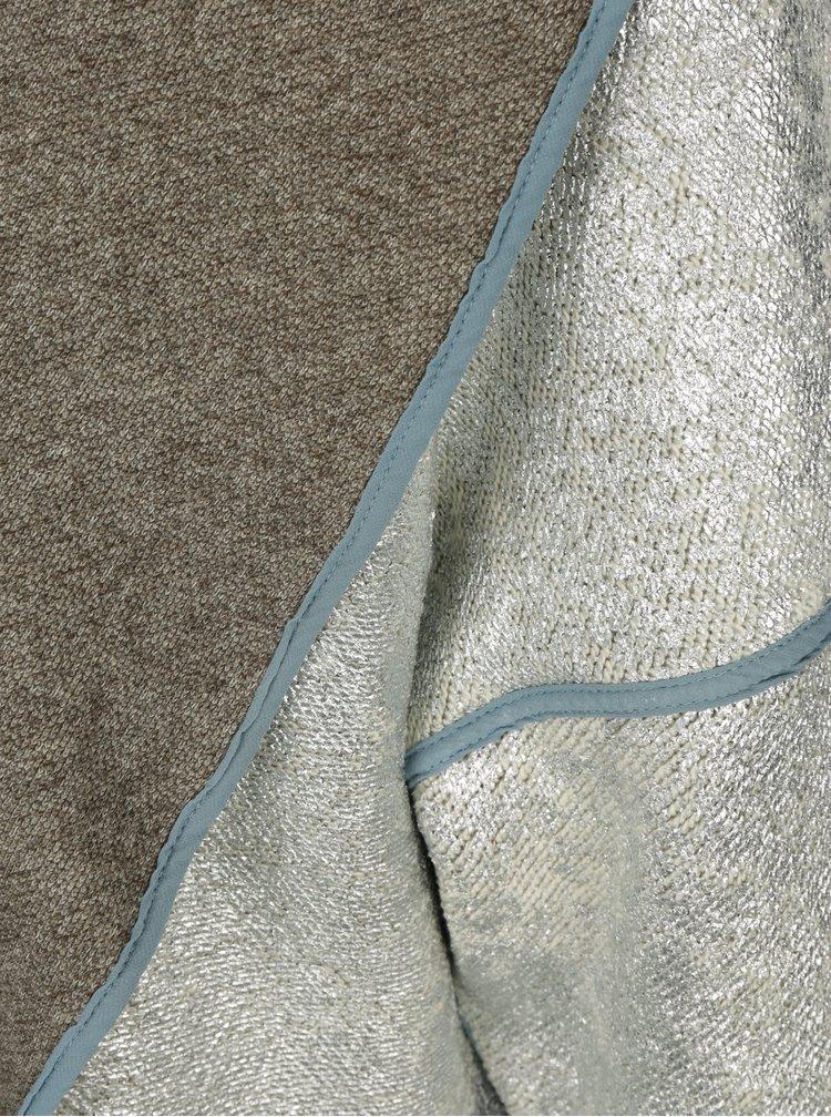 Oboustranný cardigan ve stříbrné a šedé barvě La femme MiMi
