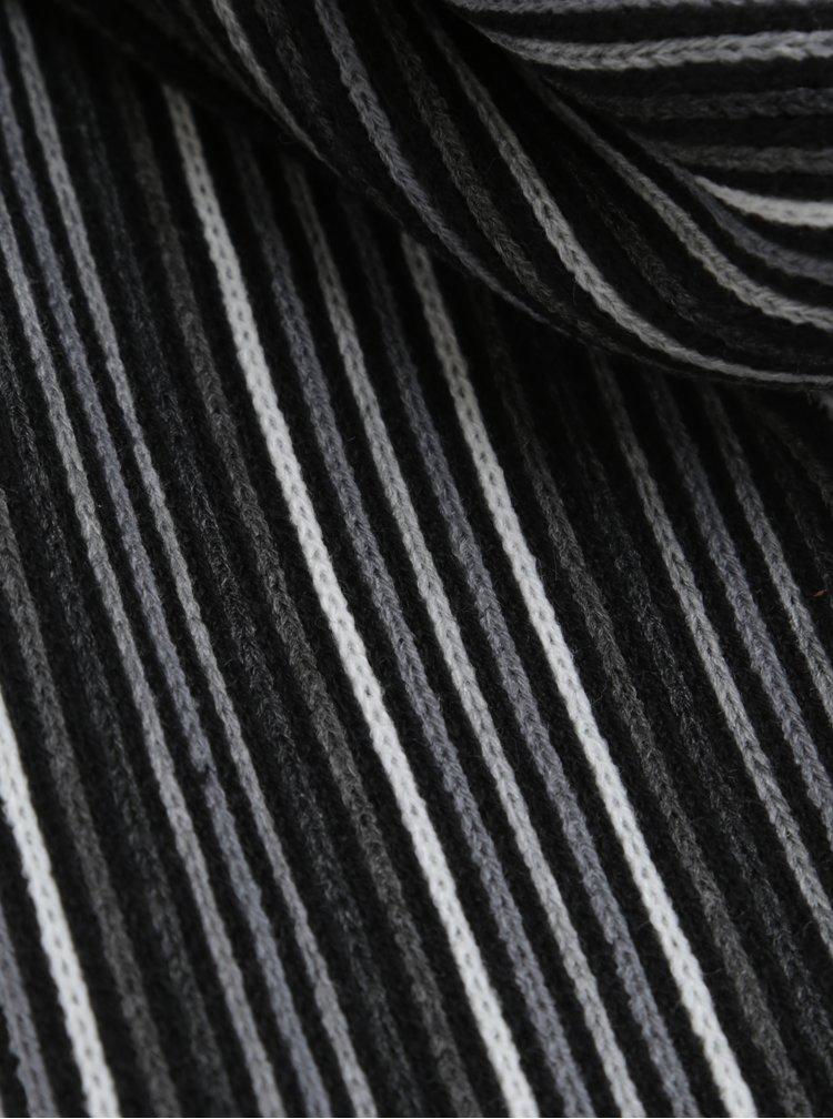 Fular tricotat in dungi cu franjuri Burton Menswear London