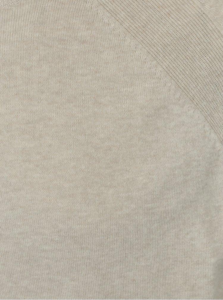Béžový lehký svetr s kulatým výstřihem Burton Menswear London