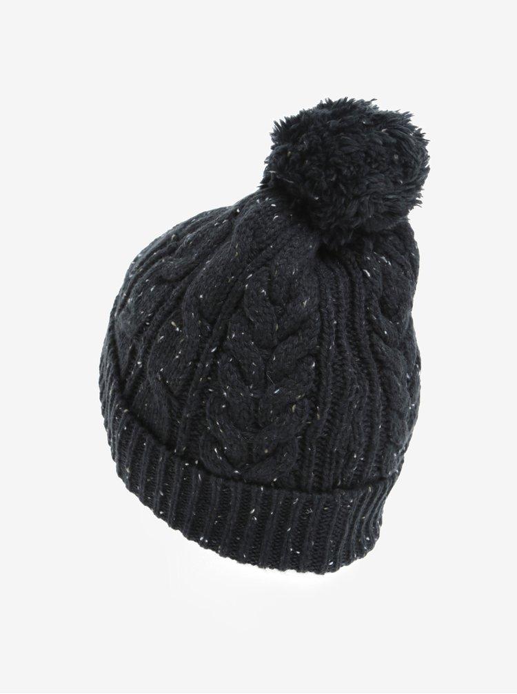 Caciula bleumarin melanj tricotata cu pompon Burton Menswear London