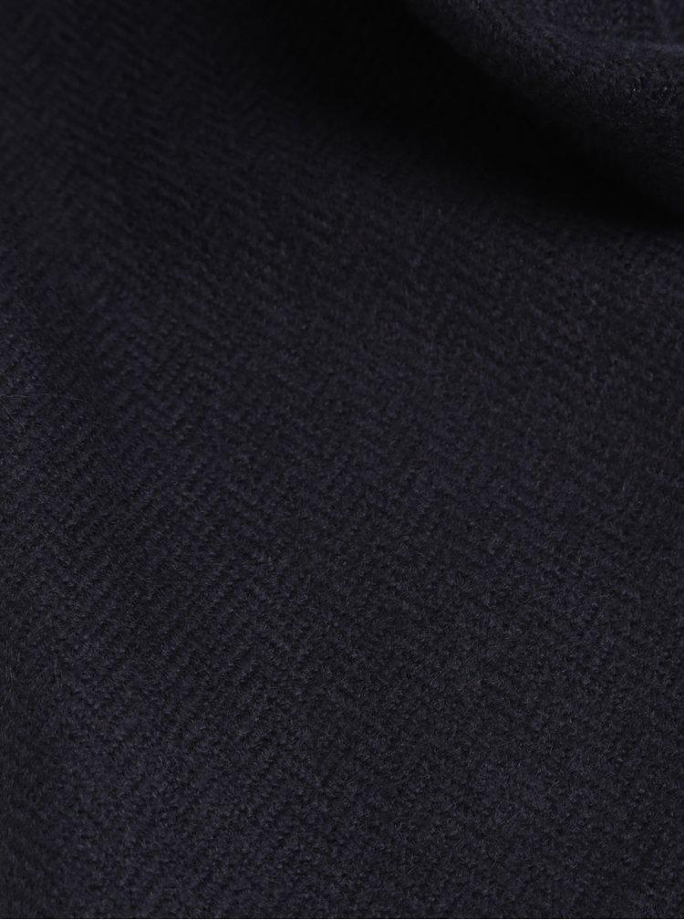Tmavě modrá šála s třásněmi Burton Menswear London