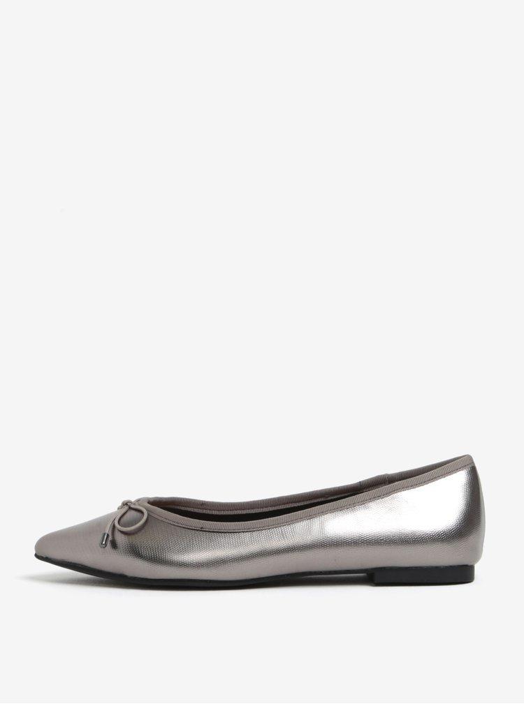 Baleríny s mašlí ve stříbrné barvě Miss KG Melia