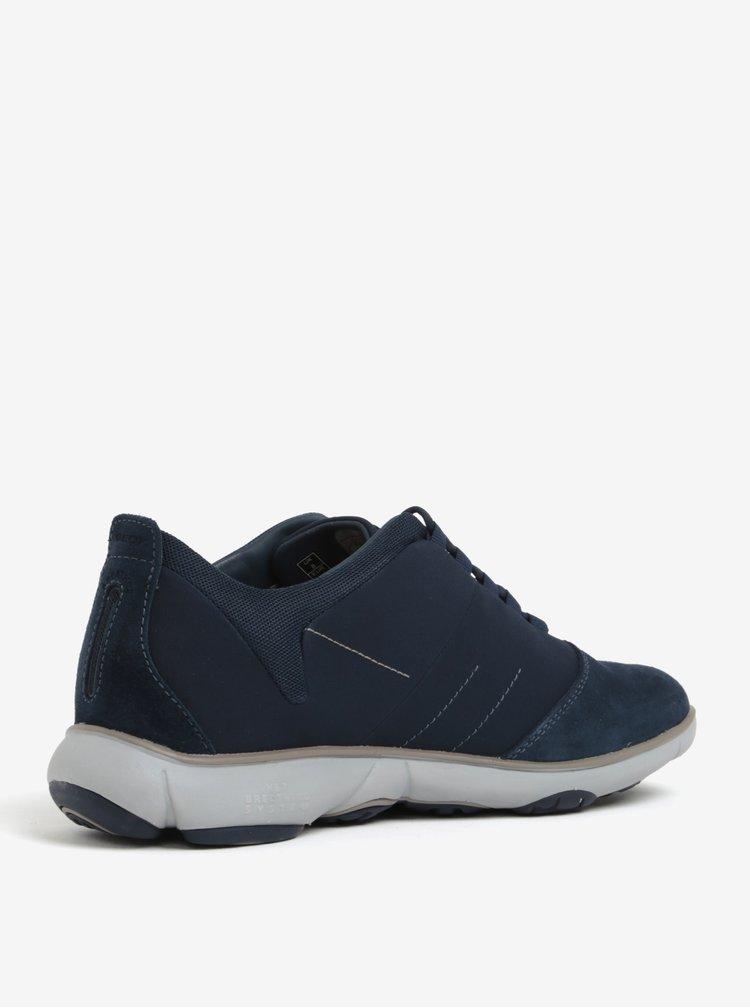 Pantofi sport barbatesti albastri cu detalii din piele intoarsa Geox Nebula