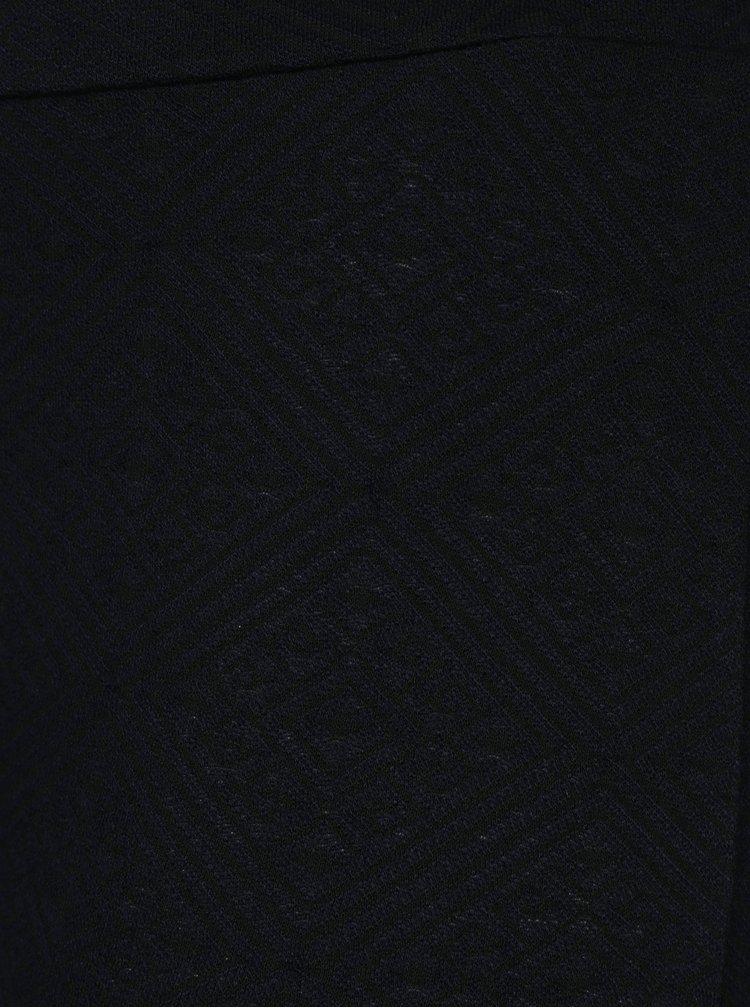 Tmavě modré vzorované legíny M&Co Plus