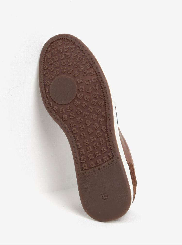 Pantofi sport maro din piele pentru barbati Dune London Tagger