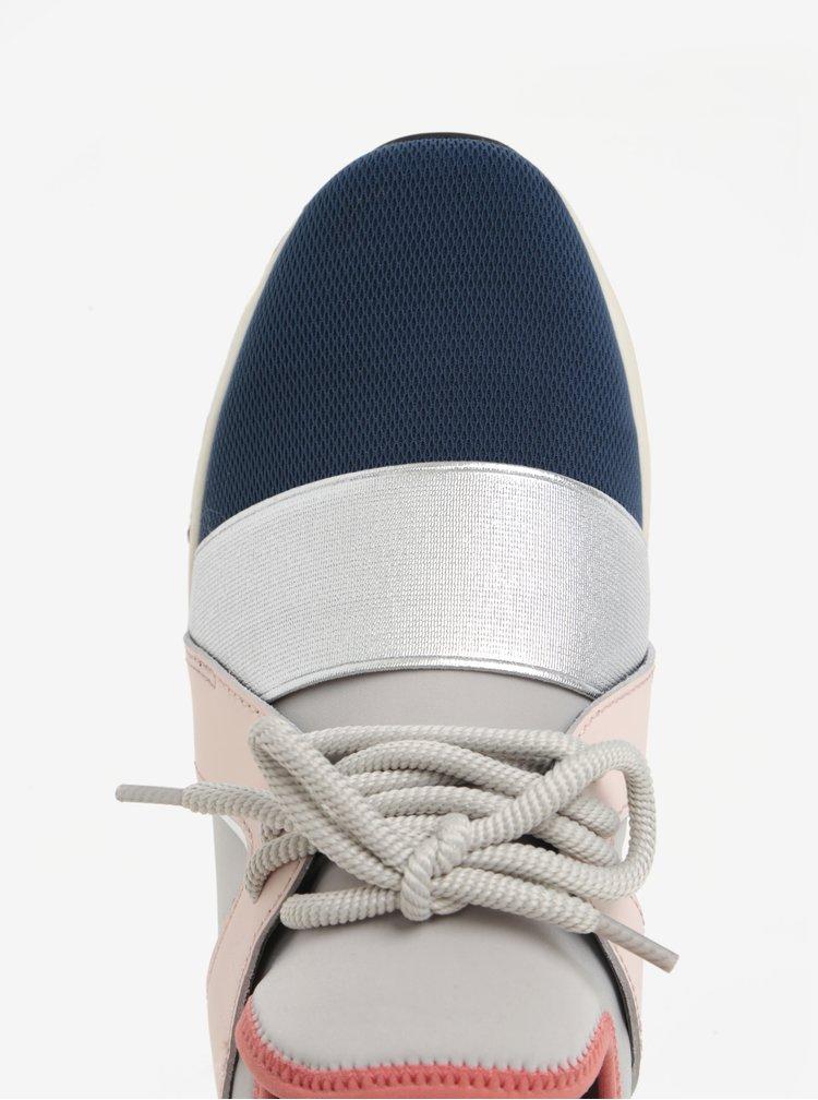Modro-šedé tenisky s koženým detailem Carvela Lamar