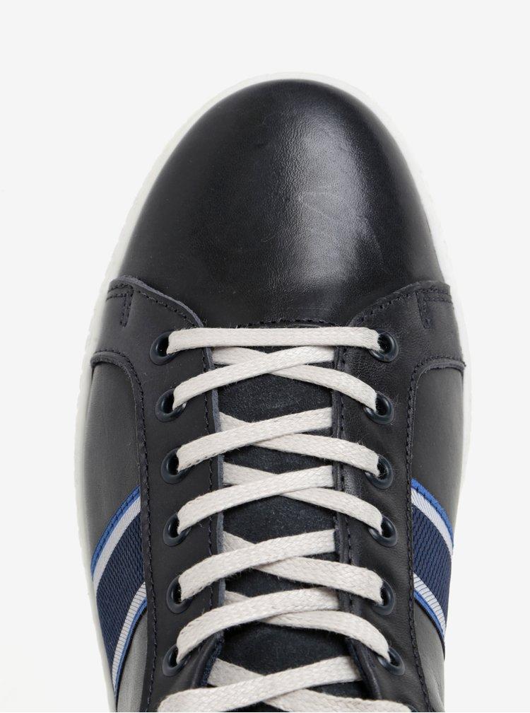 Pantofi sport bleumarin din piele pentru barbati Dune London Tagger