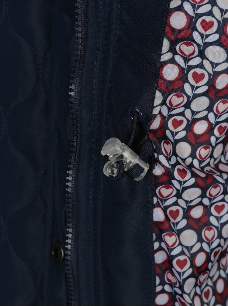 Tmavě modrá prošívaná funkční bunda s kapucí M&Co
