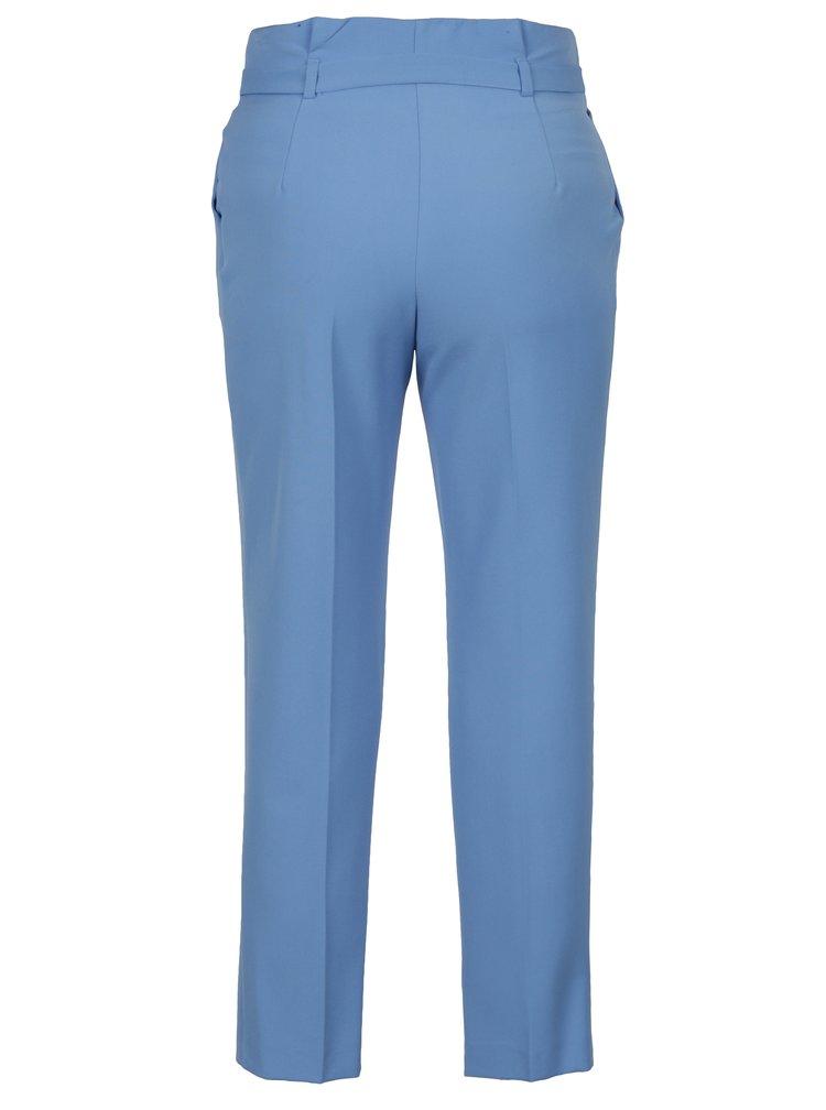 Pantaloni cropped albastri cu pliuri in talie Miss Selfridge