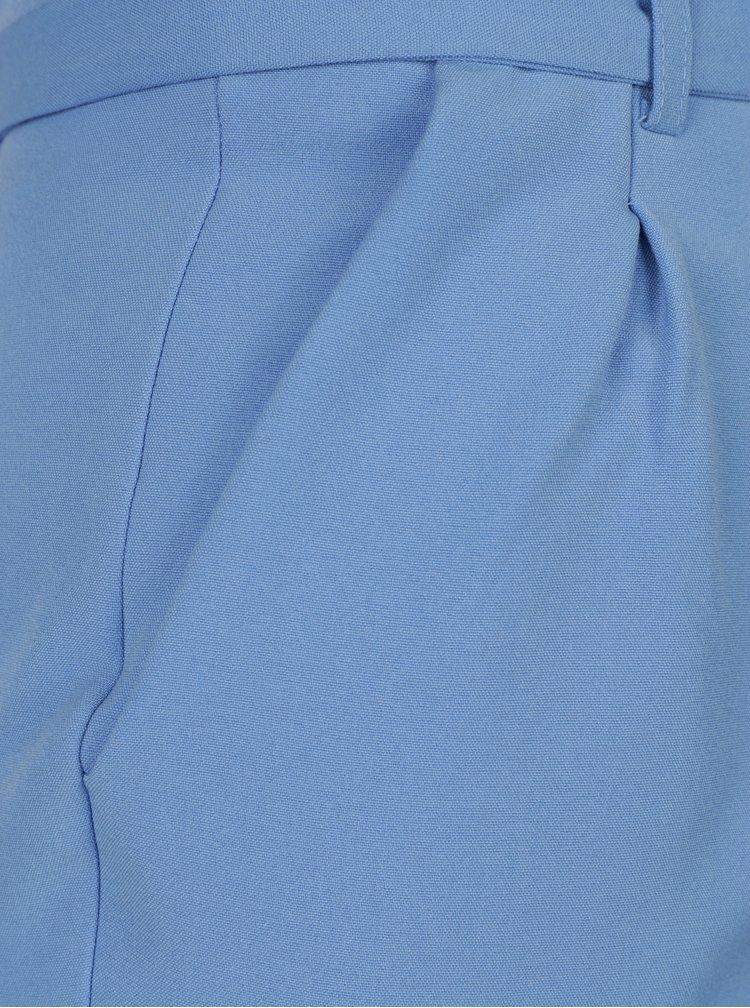 Modré skrátené nohavice so zaväzovaním v páse Miss Selfridge