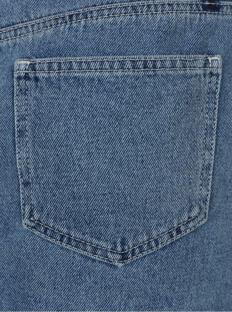 Modrá džínová minisukně na zip Miss Selfridge