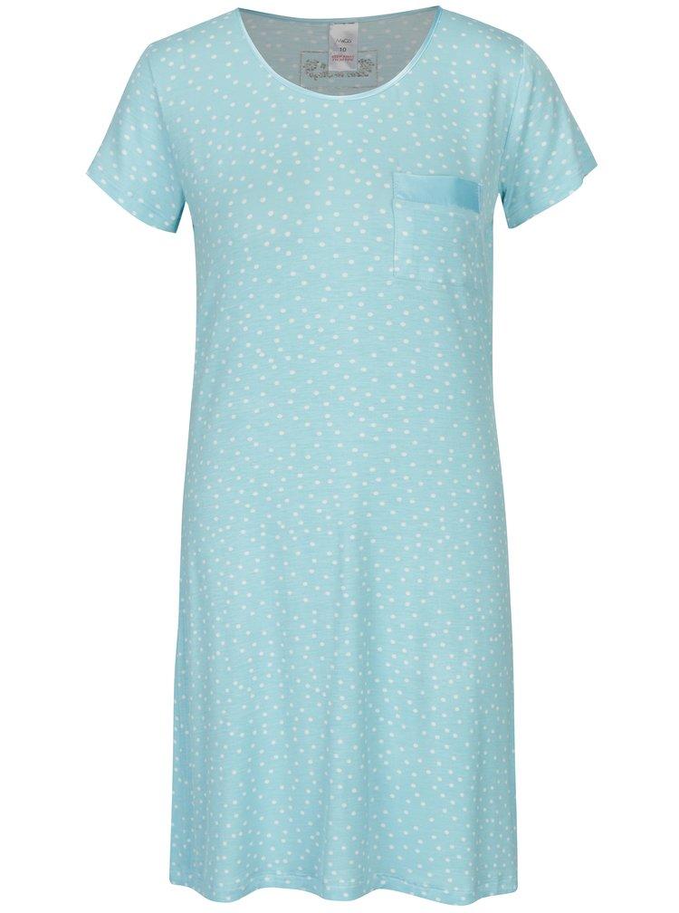 Světle modrá puntíkovaná noční košile M&Co