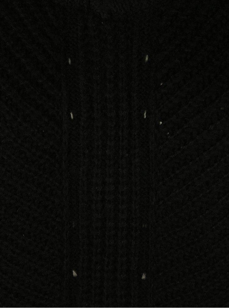 Černý svetr s odhalenými rameny s příměsí vlny Miss Selfridge