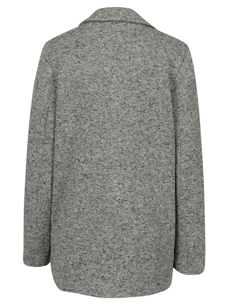 Šedý žíhaný krátký kabát Miss Selfridge