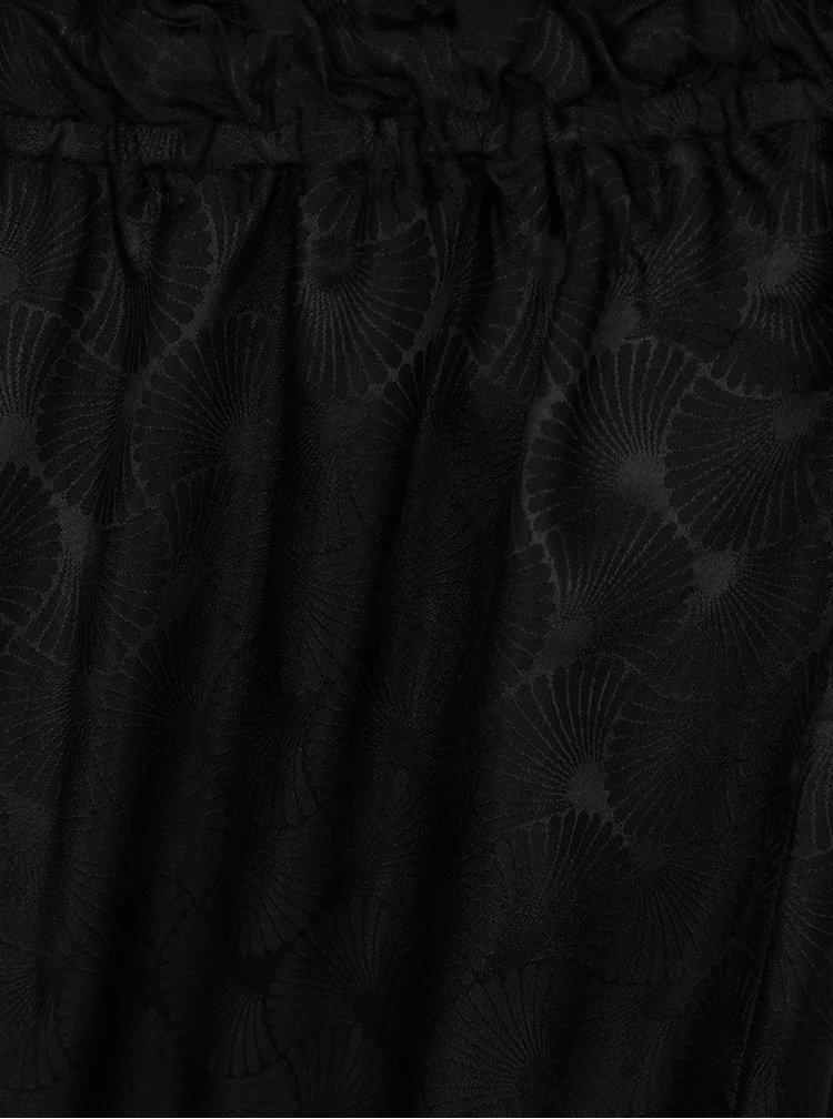 Černé dvoudílné hedvábné pyžamo La femme MiMi