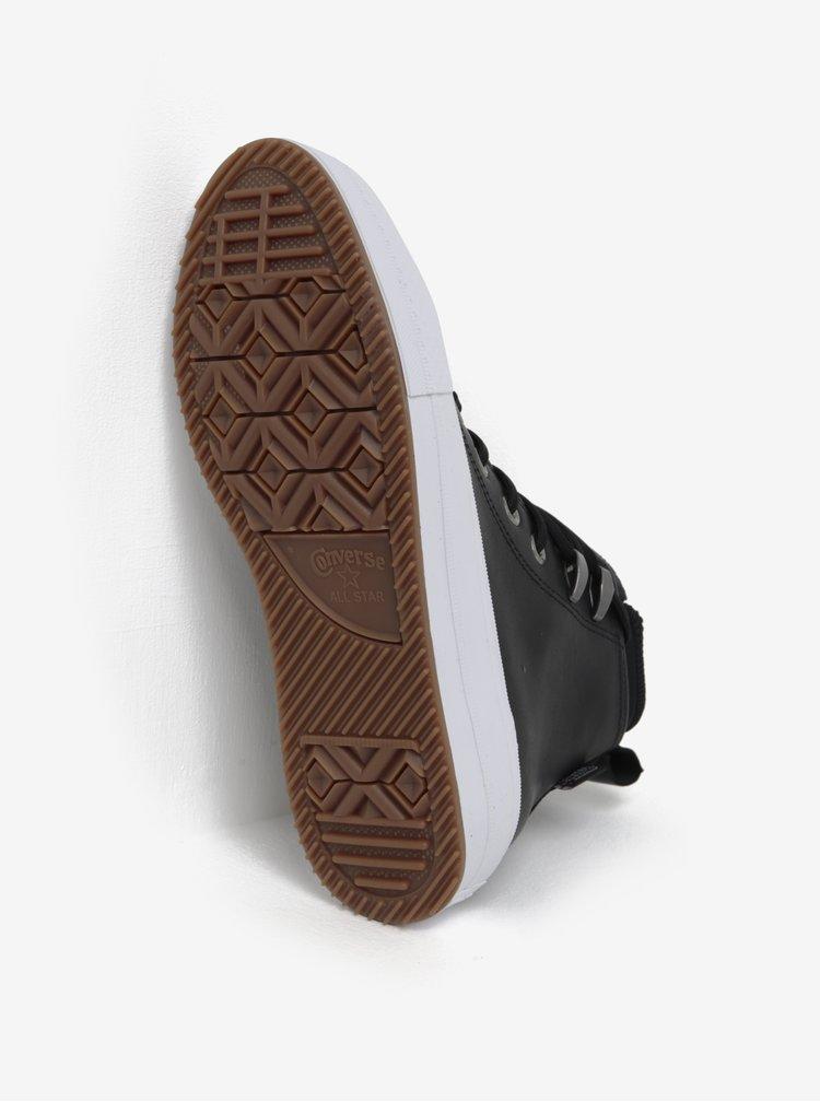 Černé dámské kožené kotníkové tenisky s vložkou Converse Chuck Taylor Lunarlon