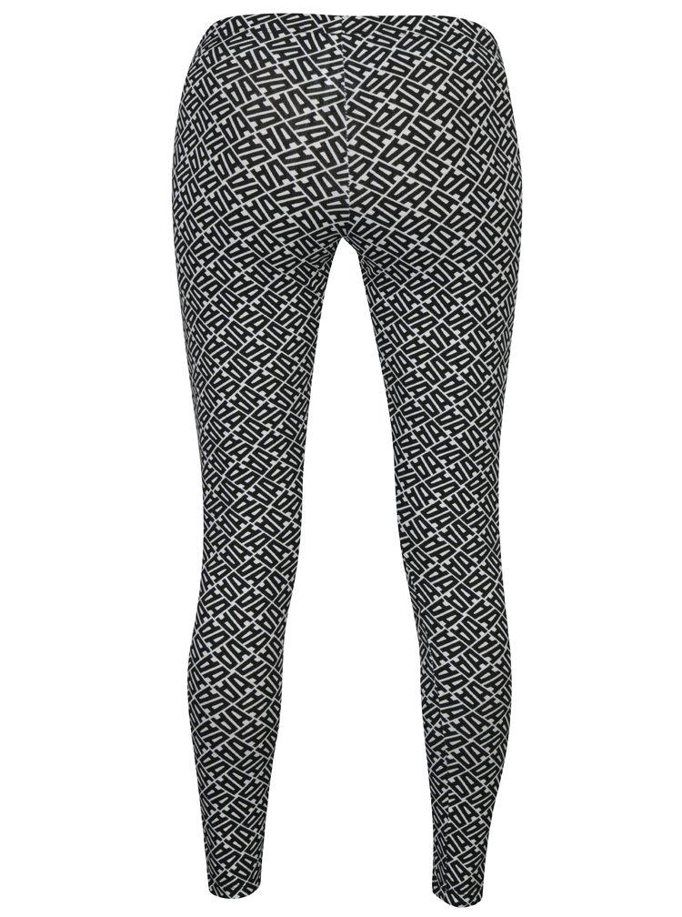 Bílo-černé vzorované legíny adidas Originals