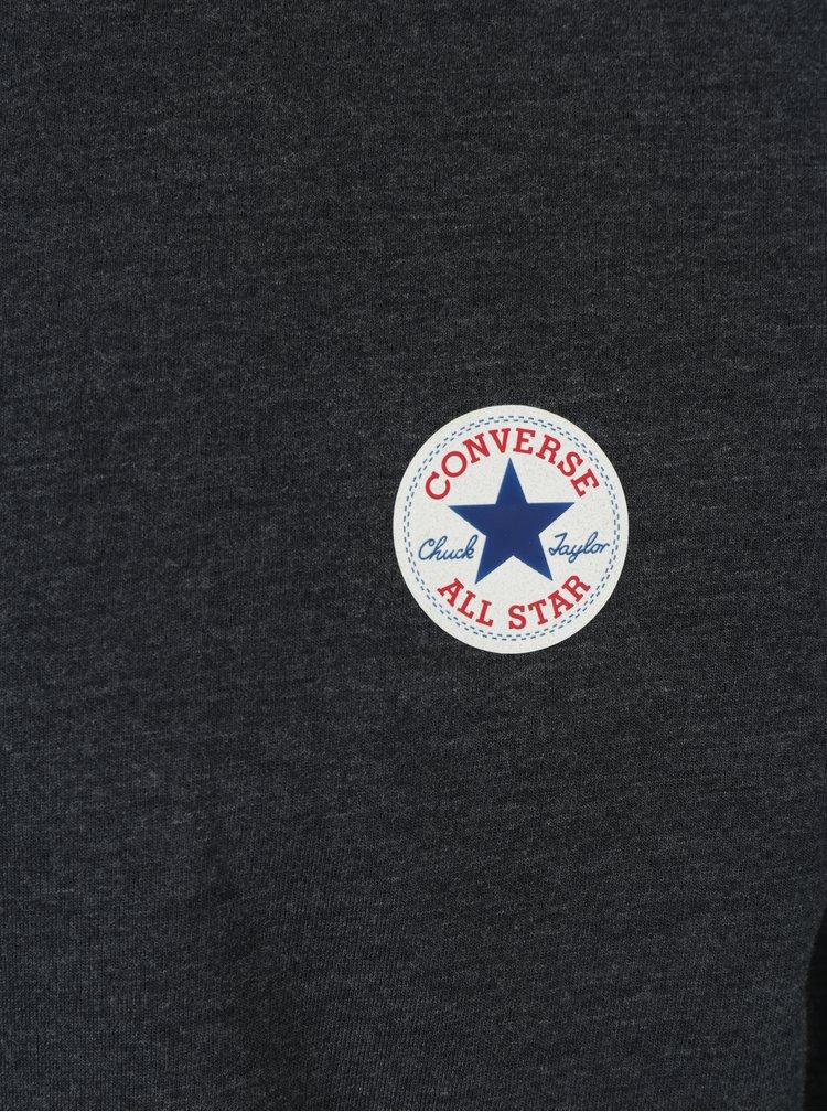 Tmavě modré pánské žíhané tričko s dlouhým rukávem Converse Tee Cuff