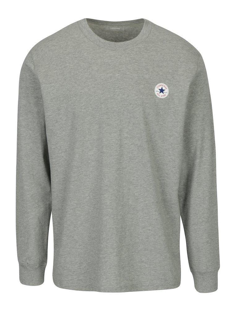 Bluza gri melanj cu logo pentru barbati - Converse Tee Cuff