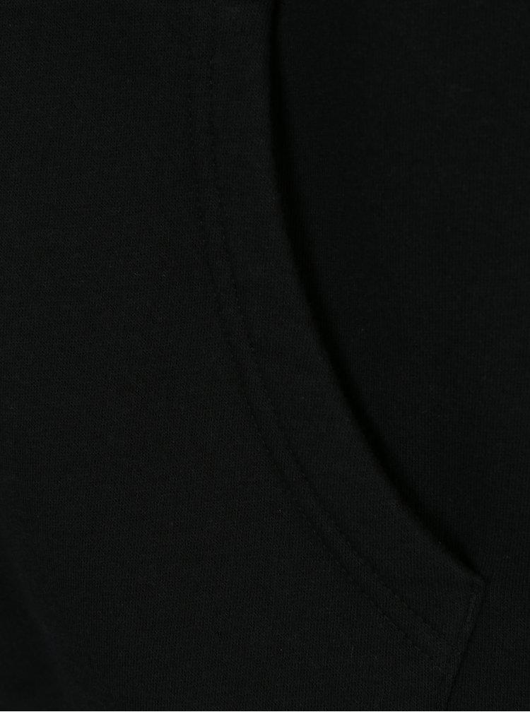 Hanorac negru cu gluga si buzunare pentru barbati -  Converse Core Full