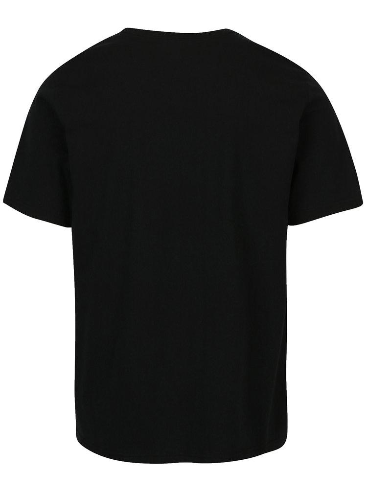 Černé pánské tričko s potiskem Converse Topo Chuckpatch