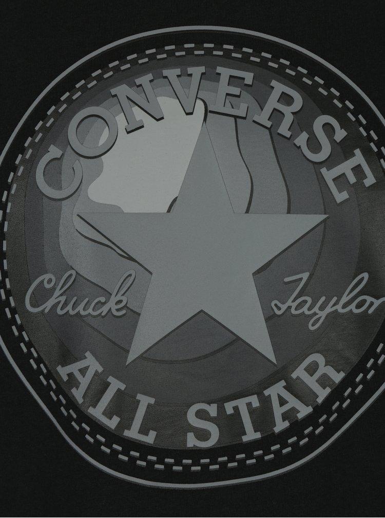 Černé pánské tričko s potiskem Converse Dimensional Layer Chuckpatch
