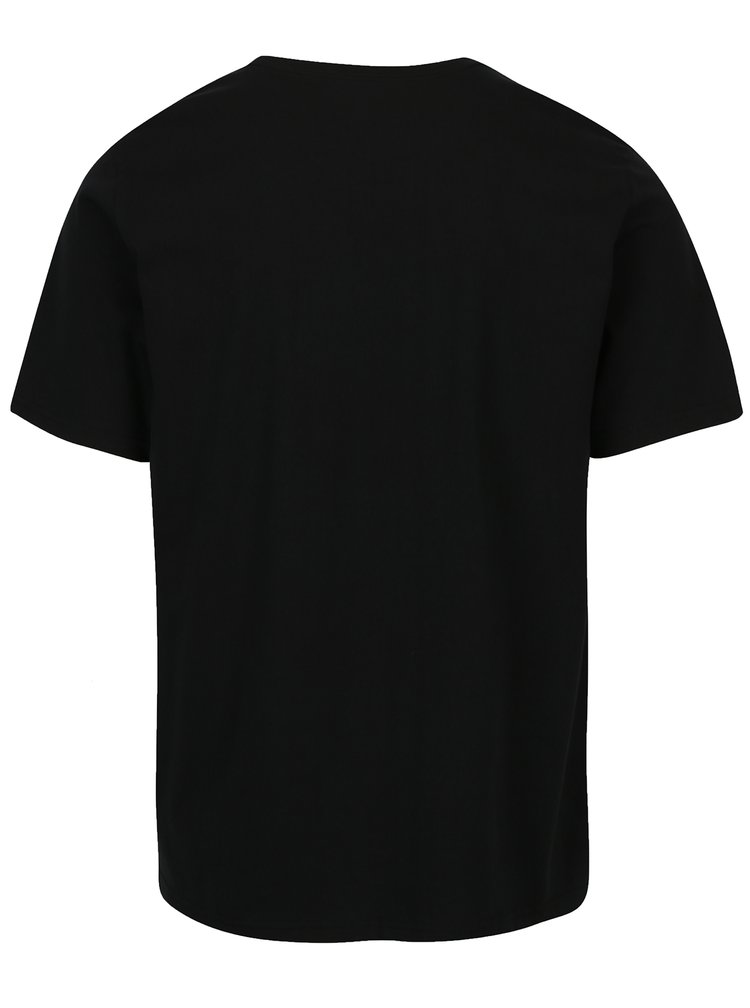 Černé pánské tričko s potiskem Converse Line